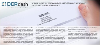 THE RACE TO GET THE BEST CANDIDATE MATCHES BEGINS WITH SMART TRACK'S MATCH INDEX INTELLIGENCE