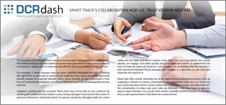 SMART TRACK'S COLLABORATION MODULE: TRULY VENDOR NEUTRAL