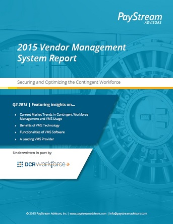PayStream Advisors - 2015 Vendor Management System Report