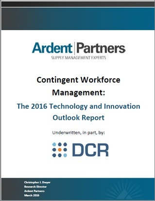 Contingent Workforce Management: The 2016 Technology and Innovation Outlook Report